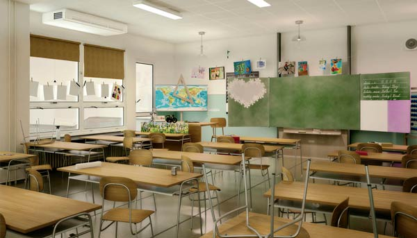 Compañía Aldes publica guía de purificación y renovación de aire en instalaciones educativas