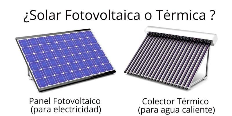 Diferencias entre energía térmica y fotovoltaica